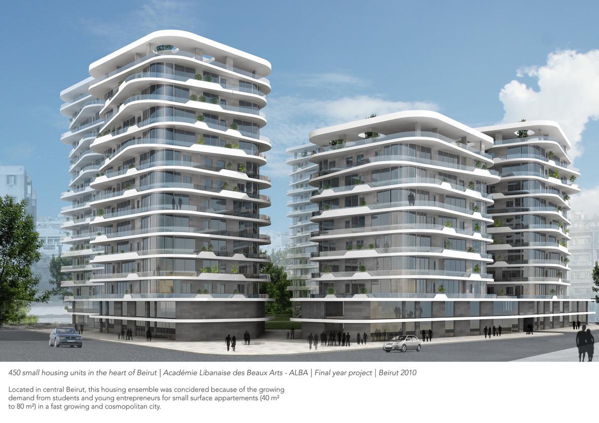 Housing plex in the heart of Beirut FYP Academie Libanaise des Beaux Arts ALBA