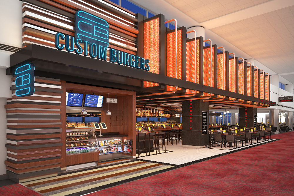 International airport restaurant design dca vincent
