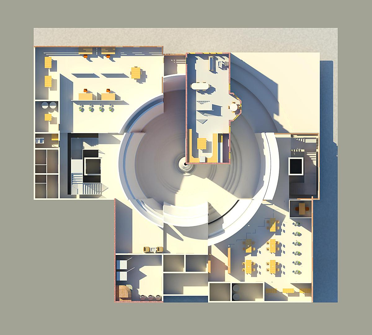 Mt adams ceramics center john j gerneth archinect for Rendered floor plan