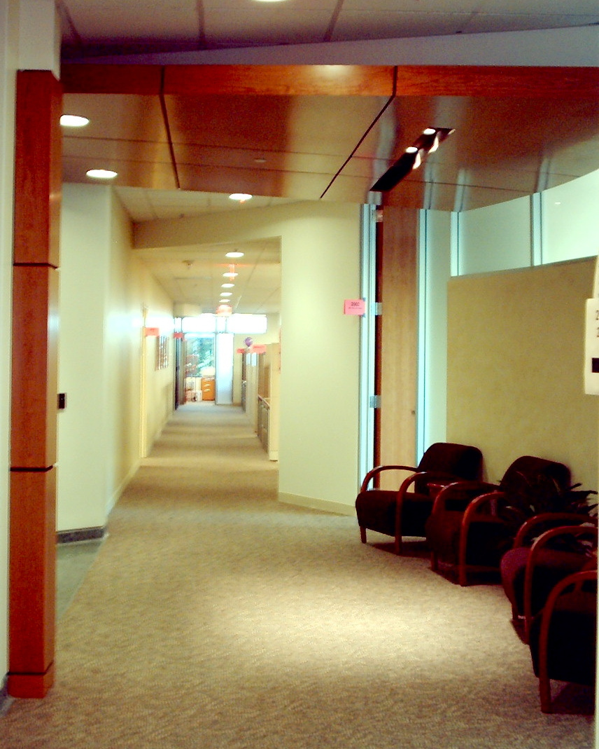 Typical Corridor outside Main Conference Room on each floor