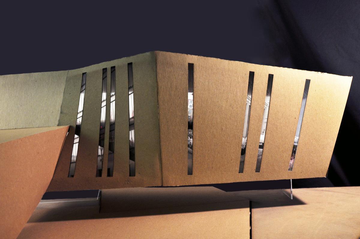 Model: vertial windows showing views