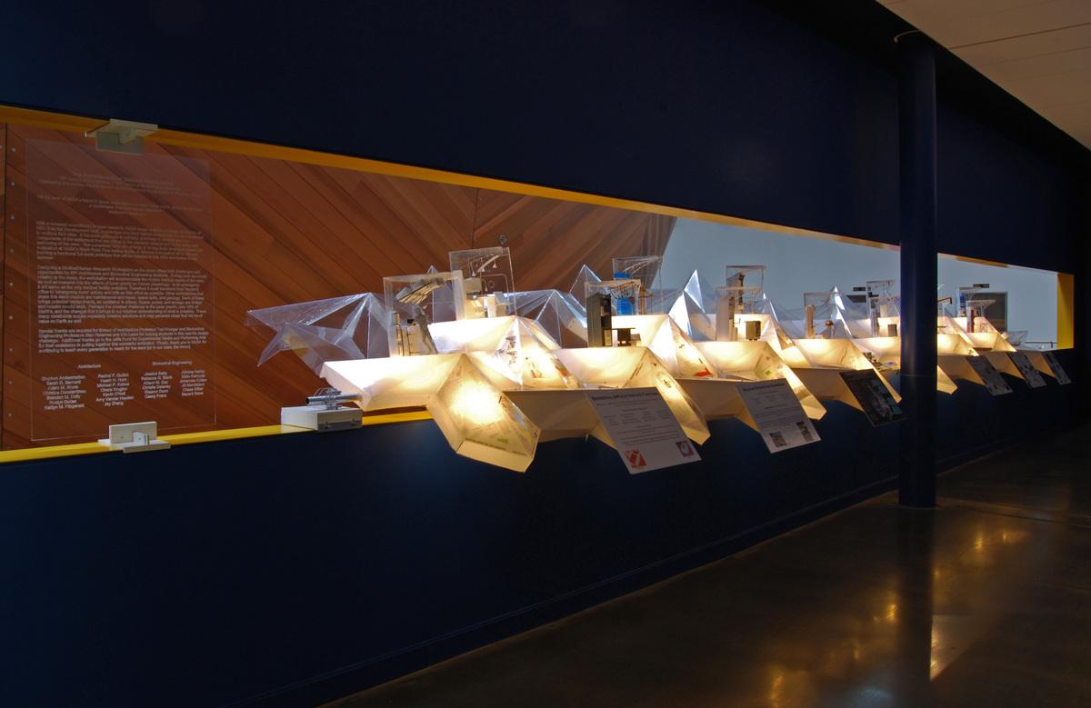 View of Exhibit from Hallway