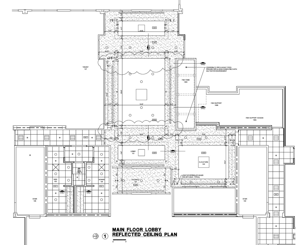 Vantage Ground Floor Lobby Floorplan