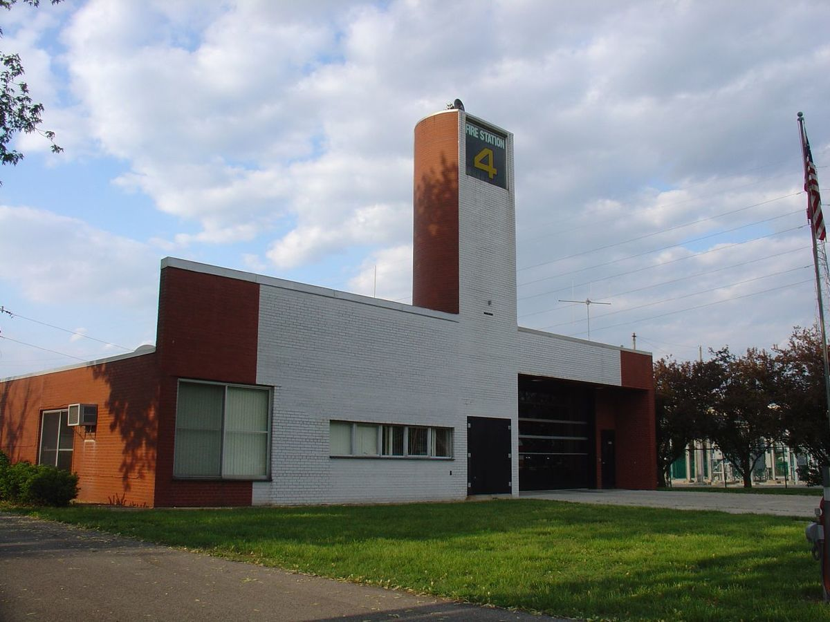 Fire Station No. 4, Columbus, Indiana, 1967, by Venturi and Rauch.