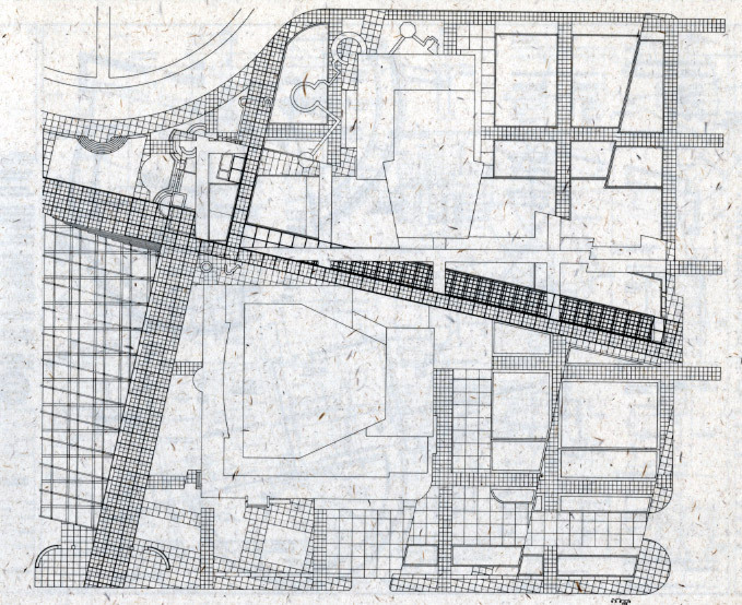 Peter Eisenman, Wexner Center for the Arts, Site Plan