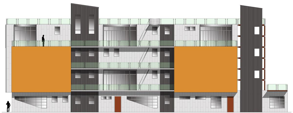 rendering of west facade for neighborhood review