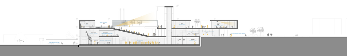 021 – SECTION A-A | 1/200 - Image Courtesy of ONZ Architects