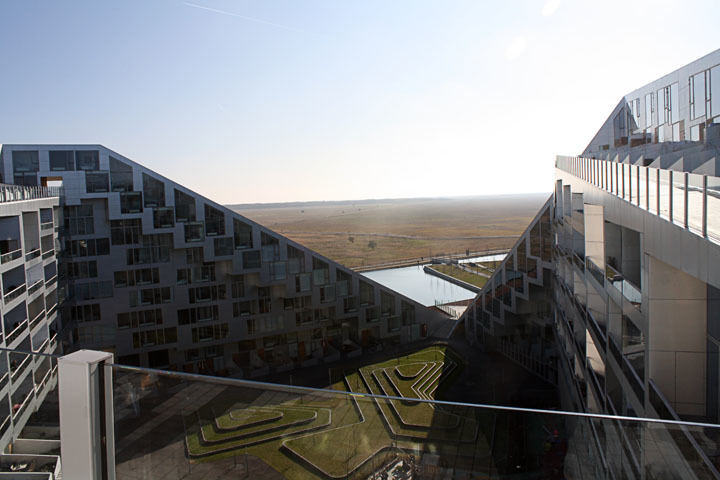 Courtyard of Bjarke Ingalls (BIG) 8 House