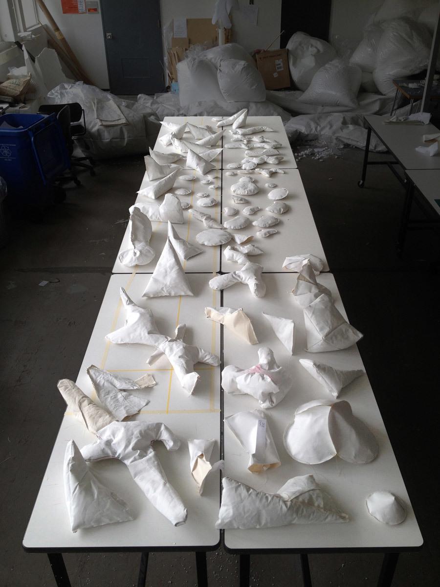 Fabric study models (Photo: M. Soules)