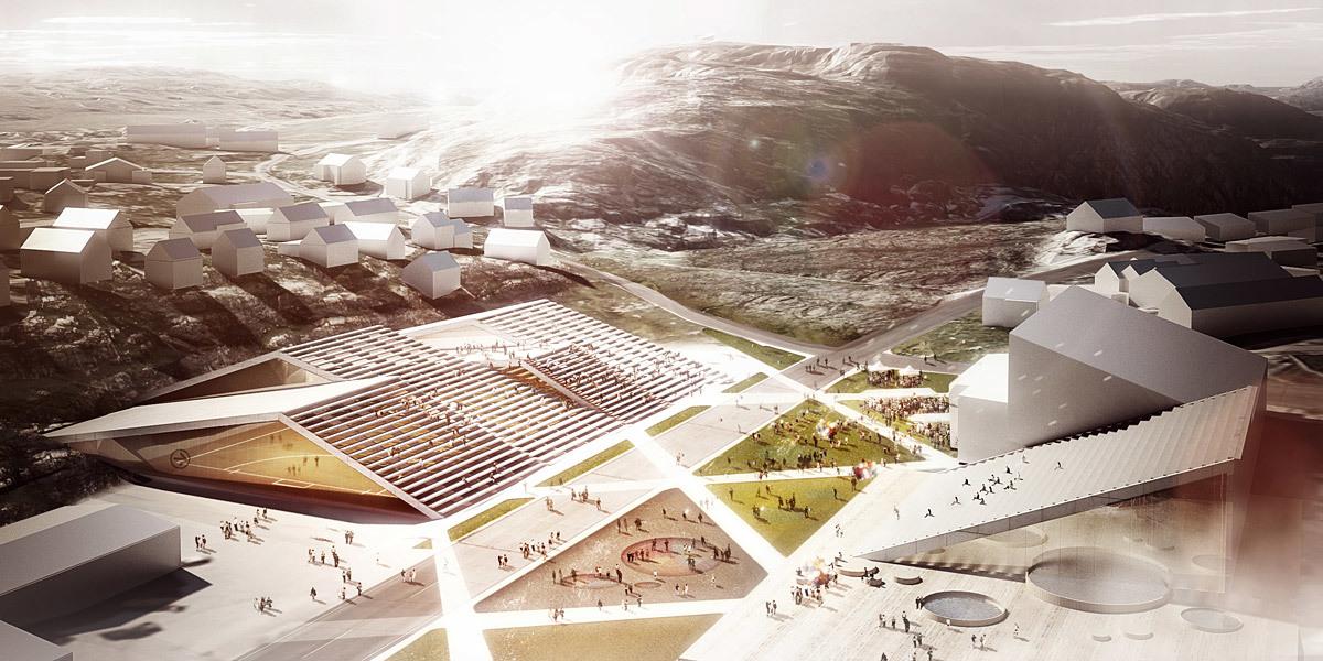 Rendering, Sports Plaza, summer (Image: David Garcia Studio and Henning Larsen Architects)
