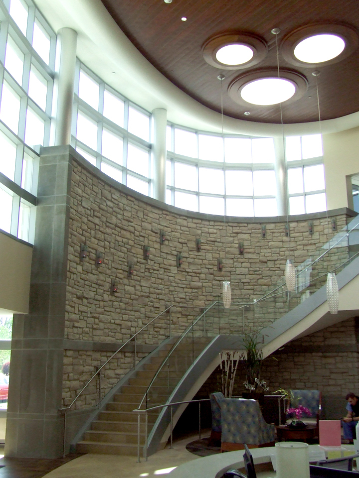 Interior 2 - Outpatient Lobby - Monumental Stair + Wall Sconces