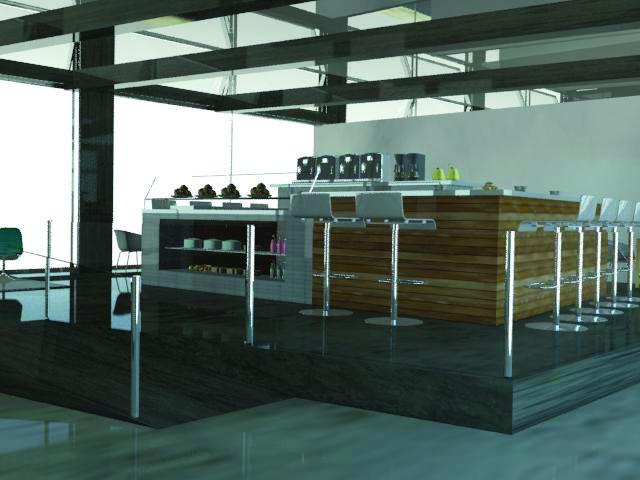 Cafe (3Dmax rendering)