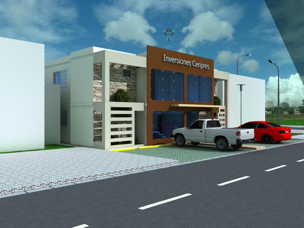 Propuesta fachada oficina felix steward feliz jimenez for Fachadas para oficinas