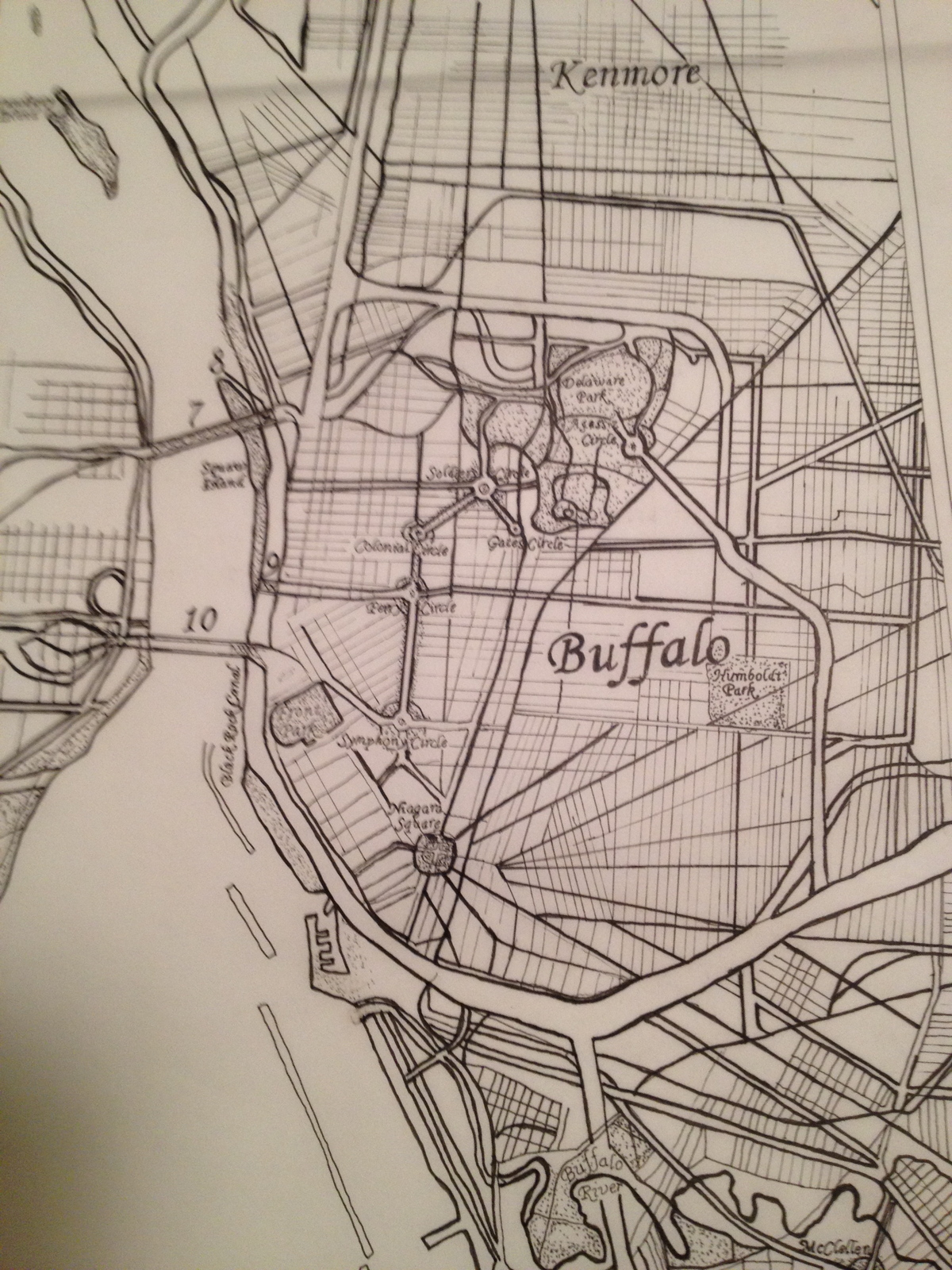 Ink map - partial of Buffalo