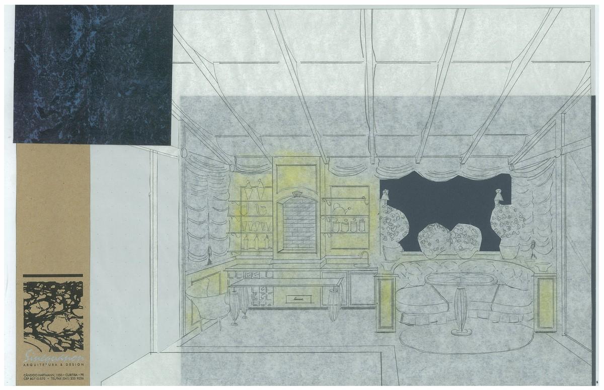 Classic Style Barbecue Area   Interior Hand-Sketch