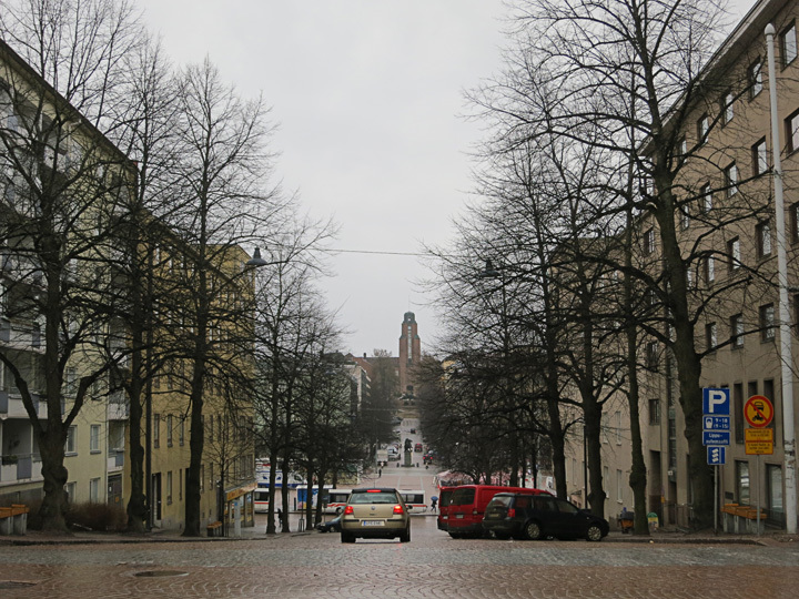 Grey approach to the Lahti City Hall