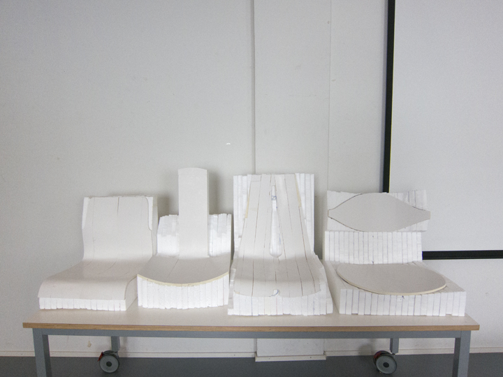 Straight shot of all 4 prototyped chairs!