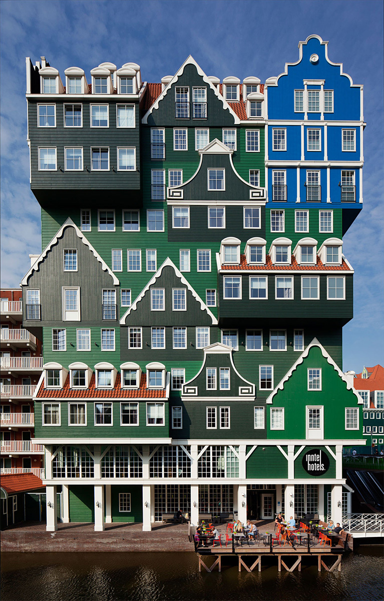 Inntel Hotel Amsterdam – Zaandam in Zaandam, the Netherlands by WAM architecten; Photo: Peter Barnes