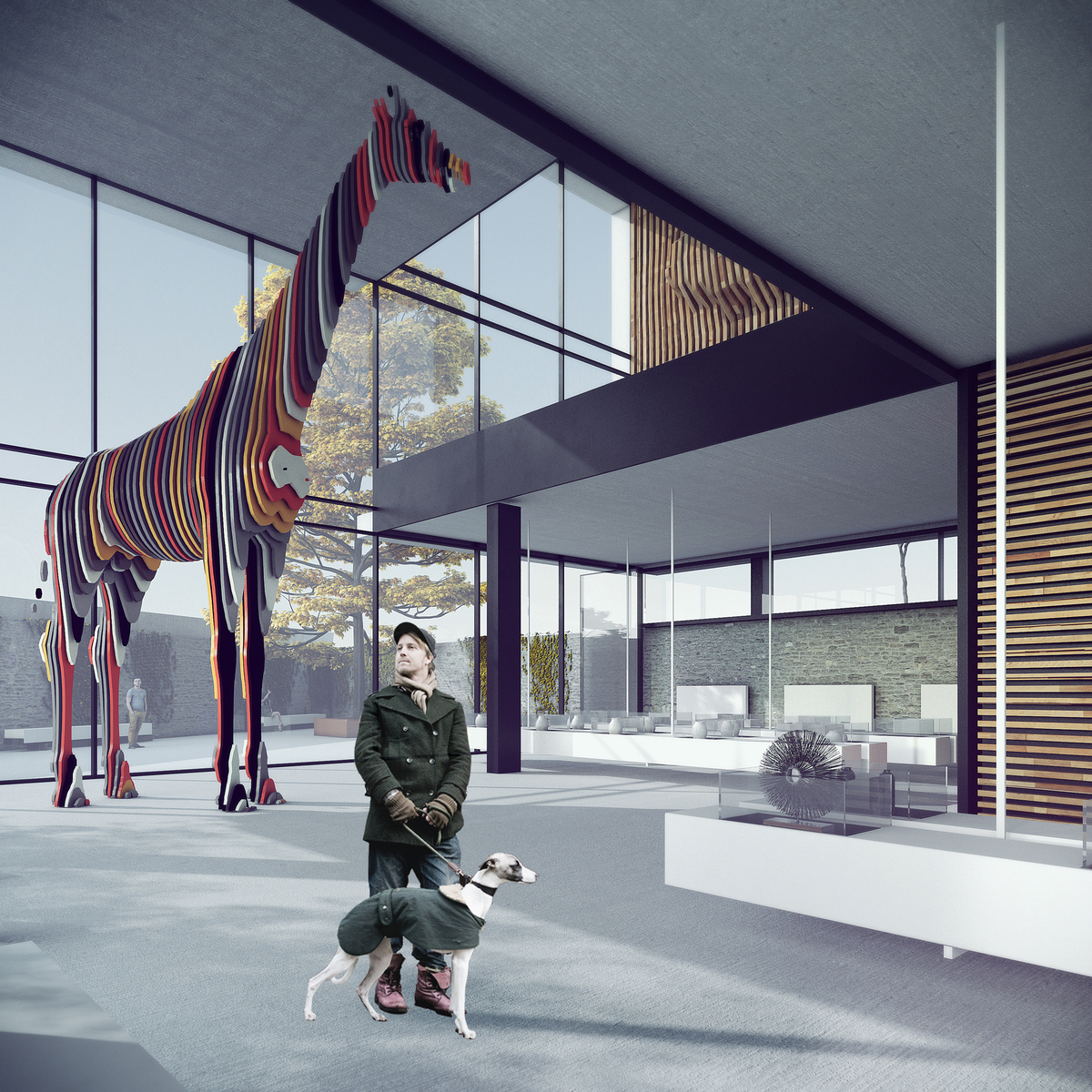 015 – PERSPECTIVE | EXHIBITION HALL - Image Courtesy of ONZ Architects
