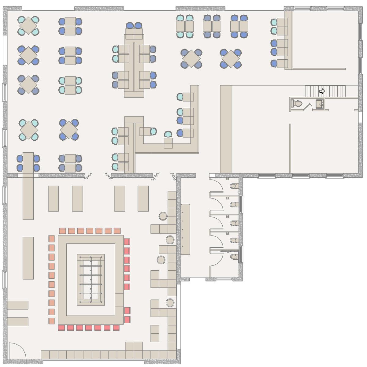 The Whale House floor plan