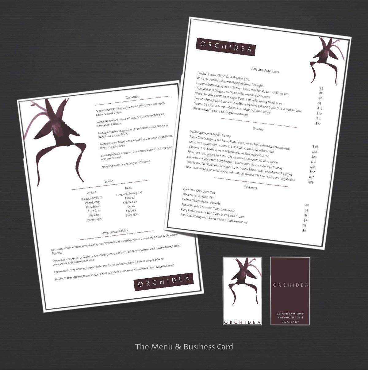 Menu & Business Card