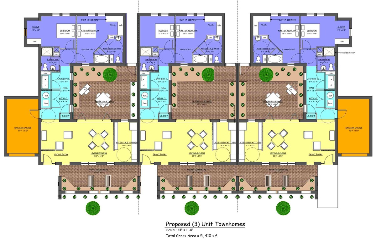 (3) unit floor plan
