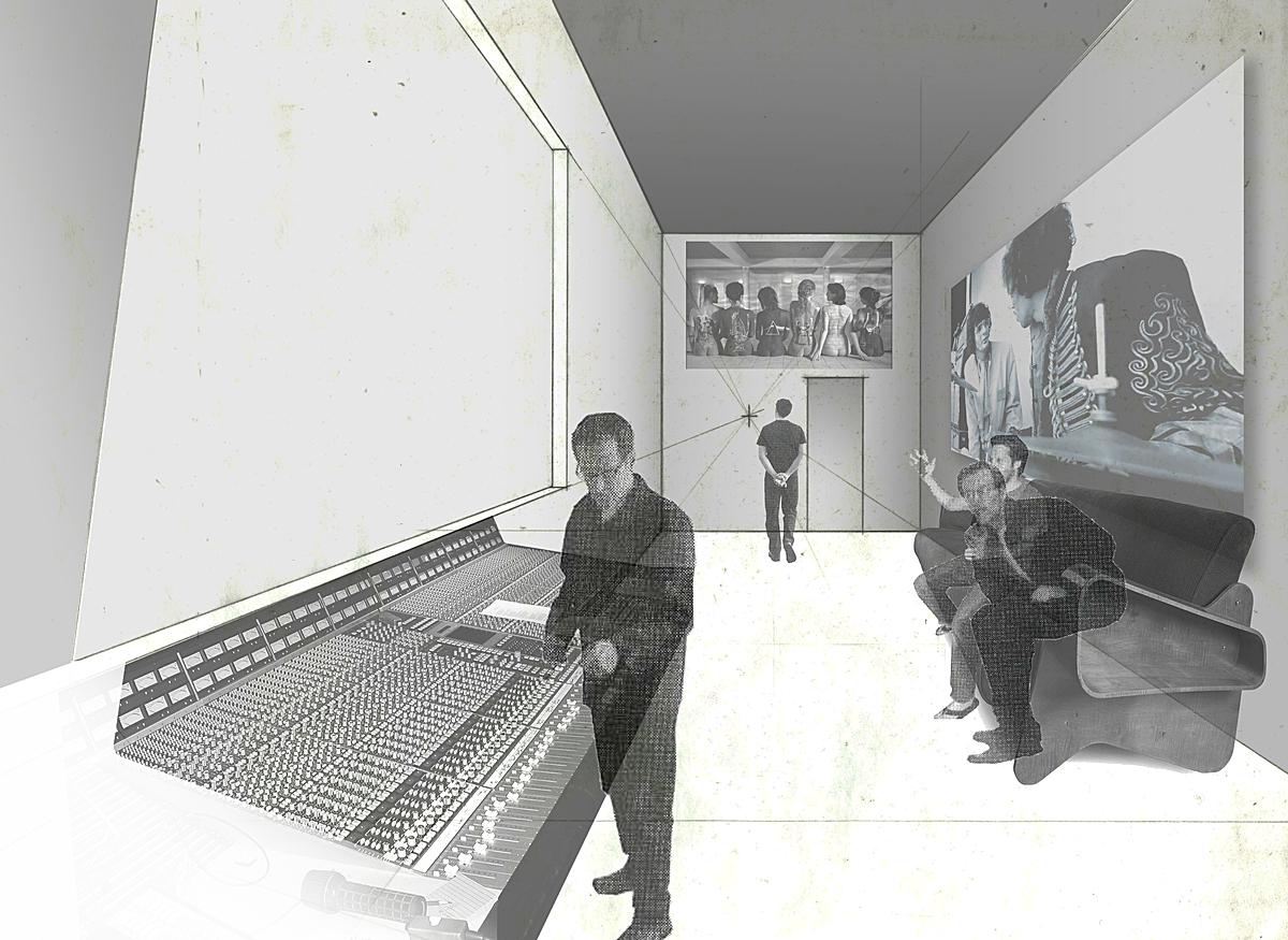 interior of one of the recording studios