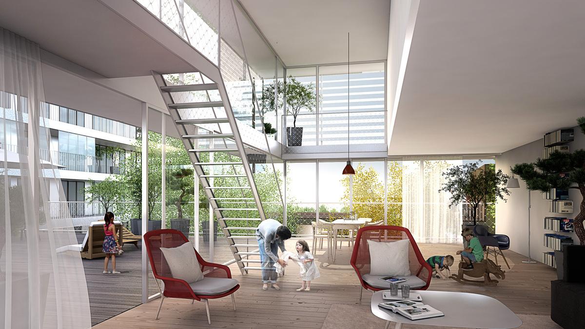 zdp4 housing units azc atelier z ndel cristea archinect. Black Bedroom Furniture Sets. Home Design Ideas