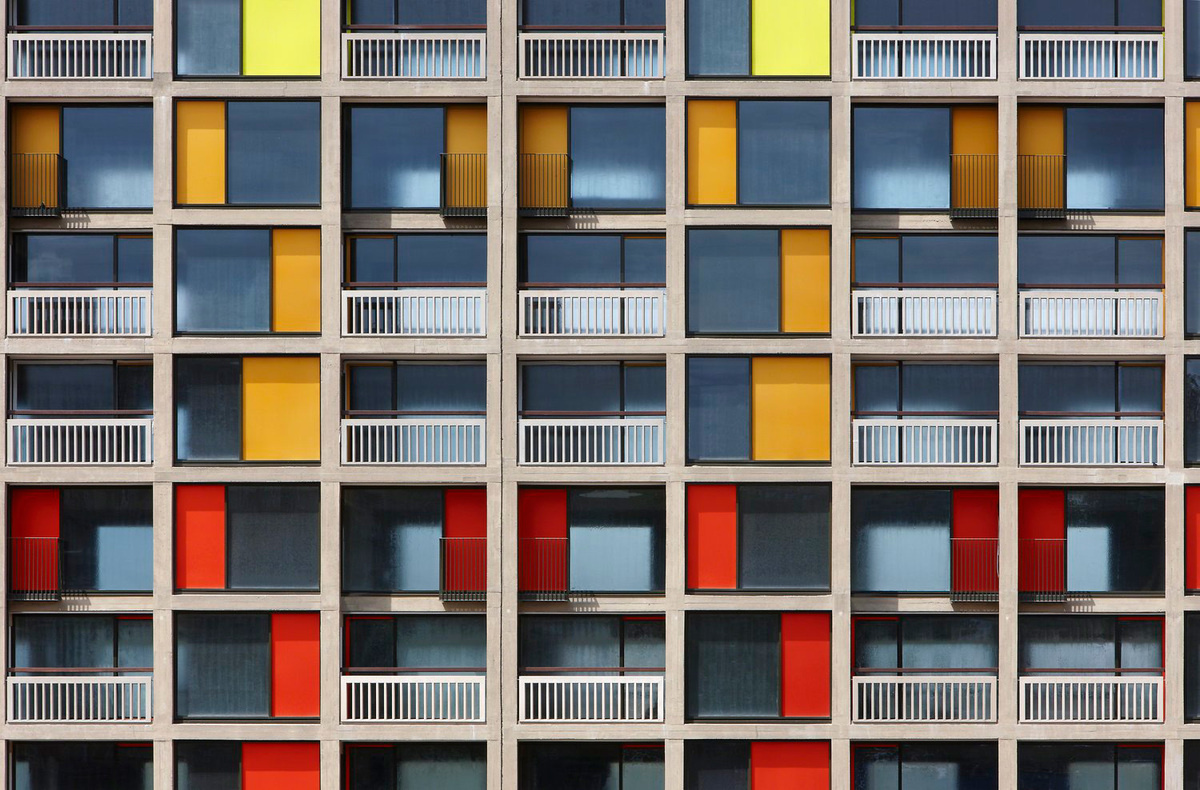 Park Hill Phase 1, Sheffield by Hawkins\Brown with Studio Egret West; Photo: Daniel Hopkinson