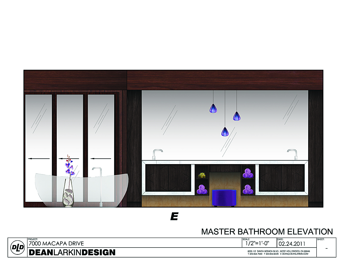 Master Bathroom - elevation