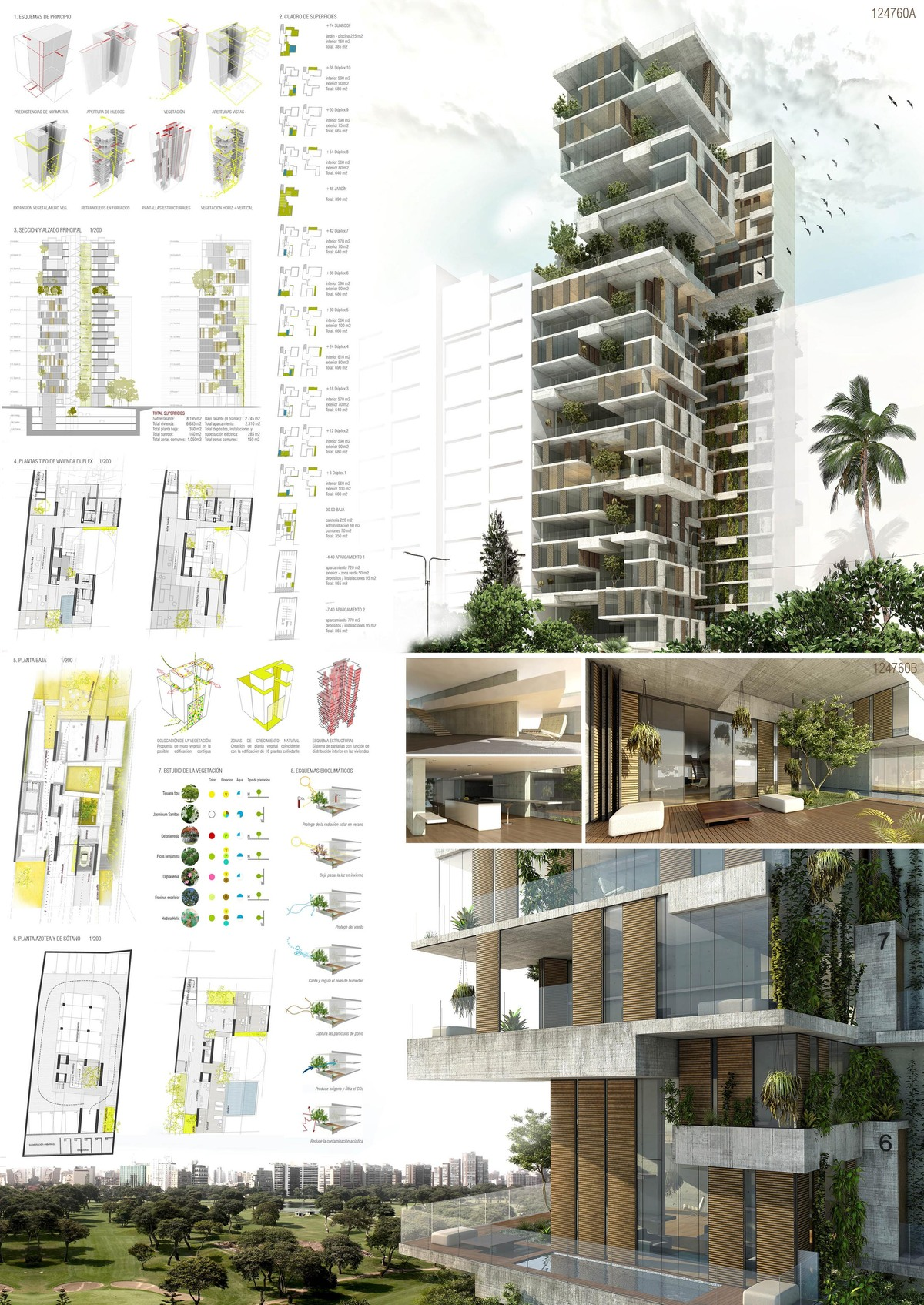 Skycondos competition in lima per honourable mention for Plan de arquitectura