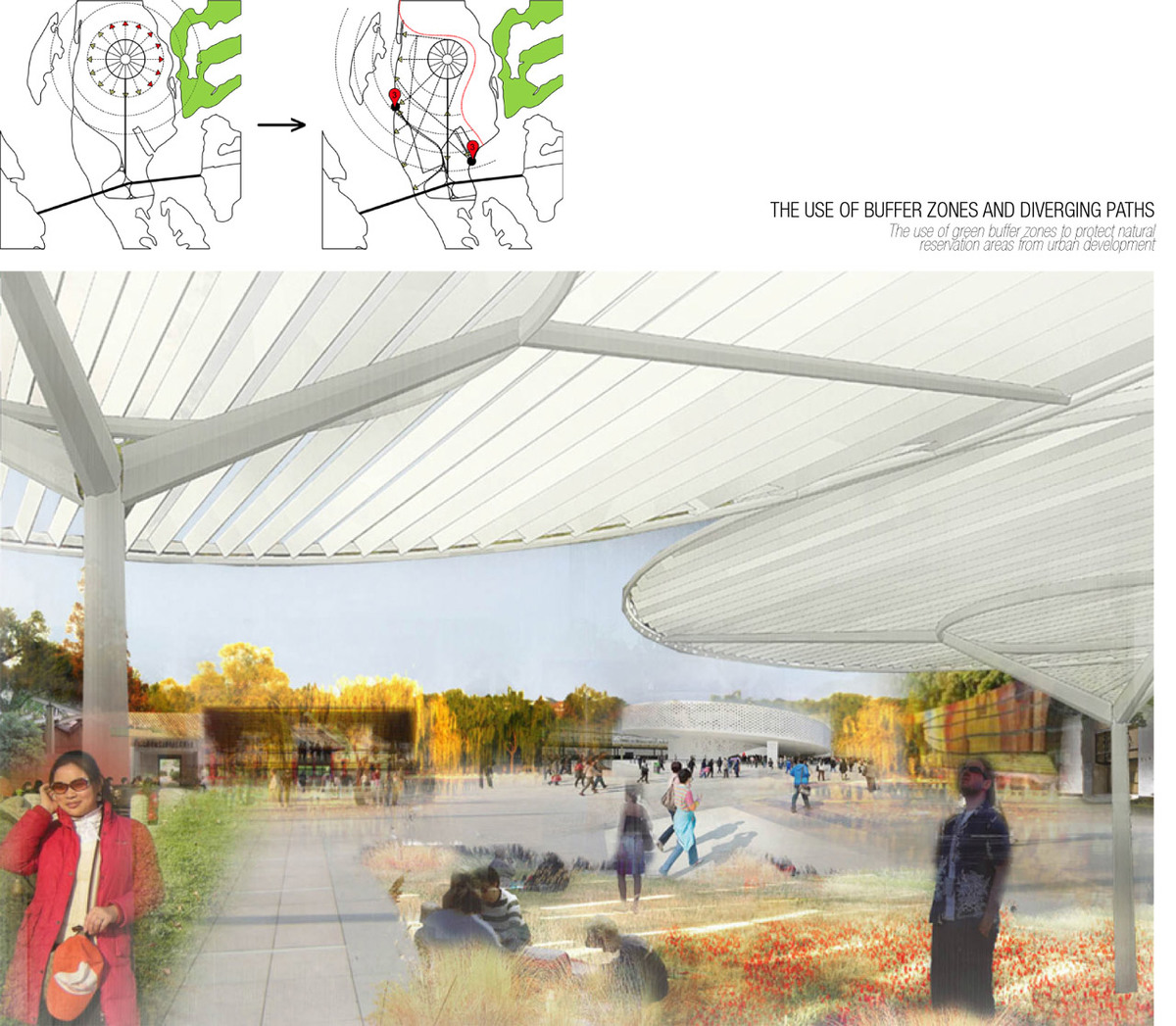 Buffer zones and expo park (Image: Wolf House Productions)