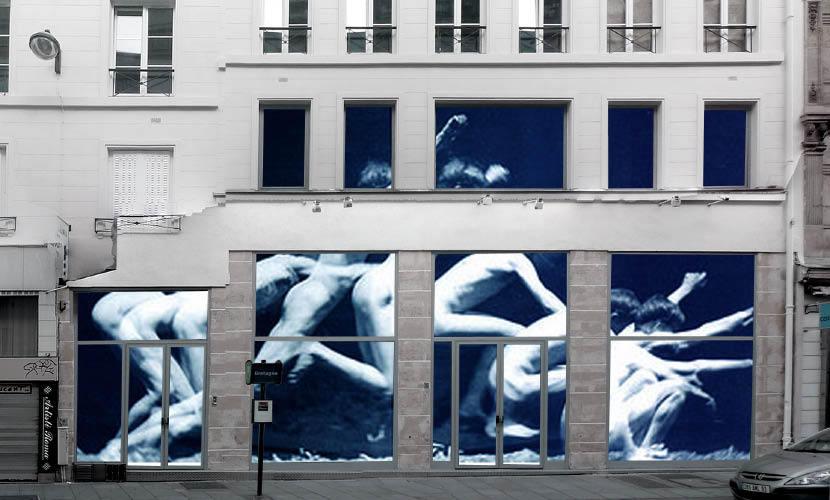 spatial practice La Squadra show room facade