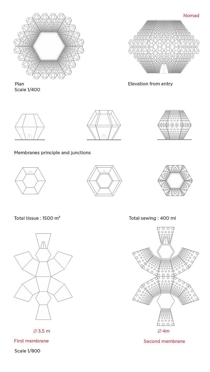 Membrane plans (Image: SITBON ARCHITECTES)