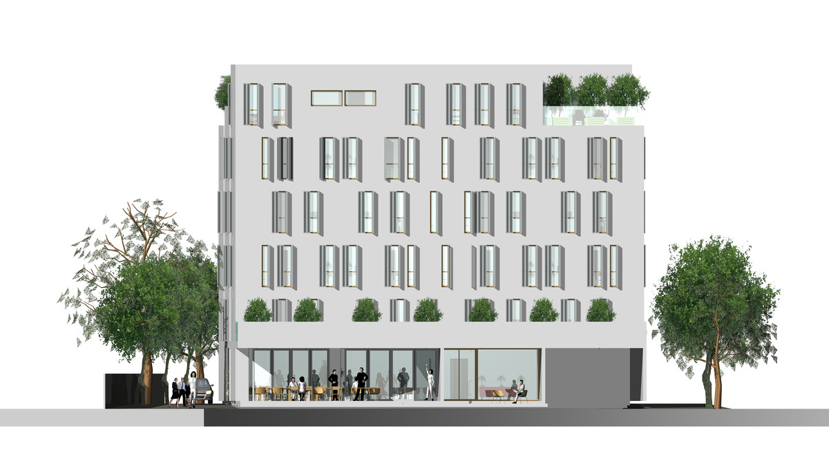 Front Elevation Of Small Hotels : Apartment hotel dorota pilecka archinect