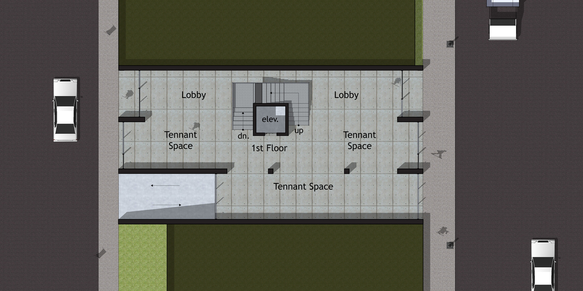 Option A - First Floor Plan (Street Level)