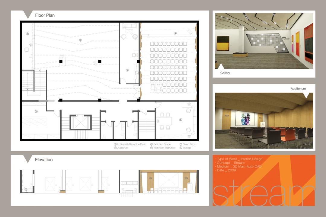 BASEMENT w/ exhibition space & auditorium