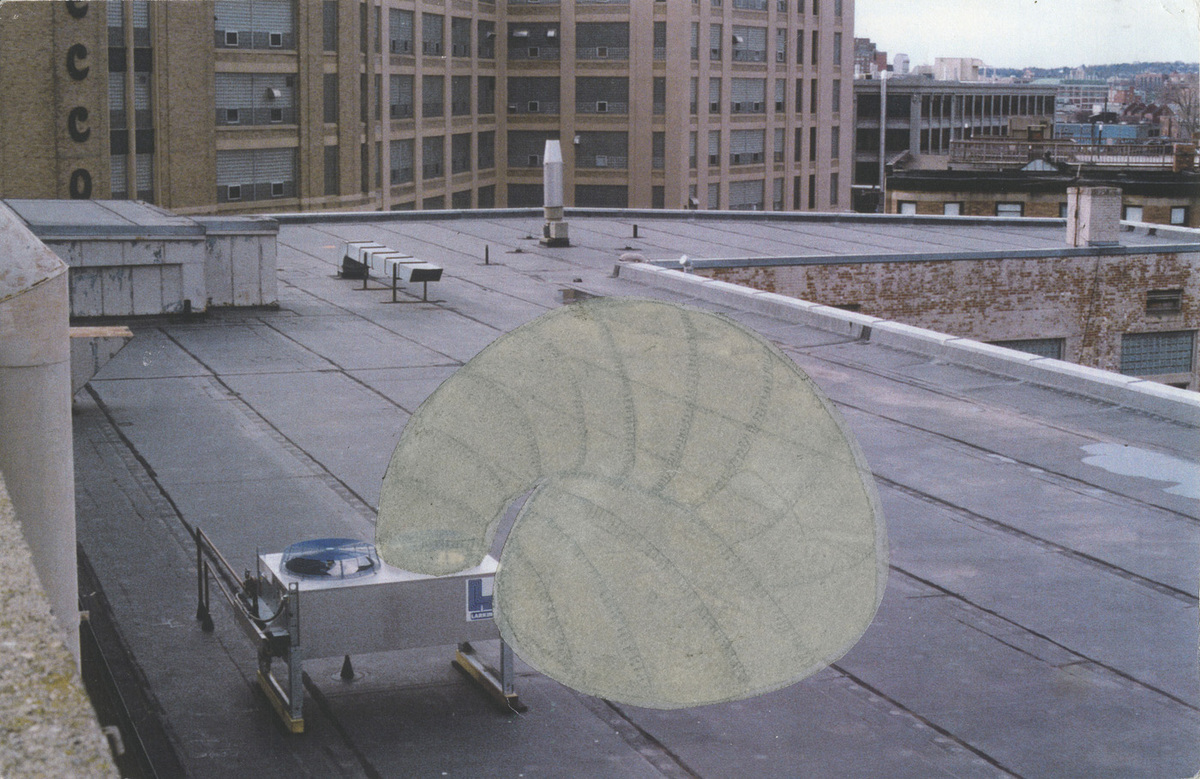 A concept image illustrating the paraSITE's attachment to an HVAC unit. Image: Michael Rakowitz