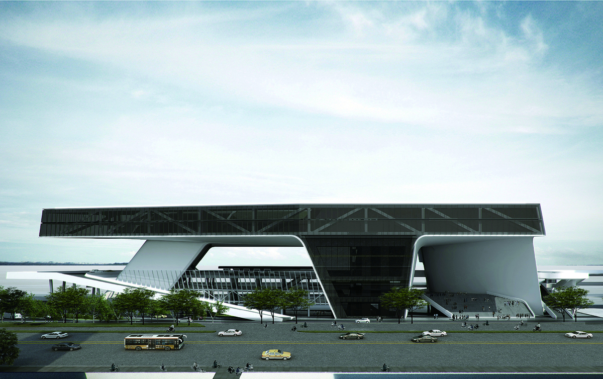 (JET+CXT+Archasia) Kaoshiung Port Services Centre View From City