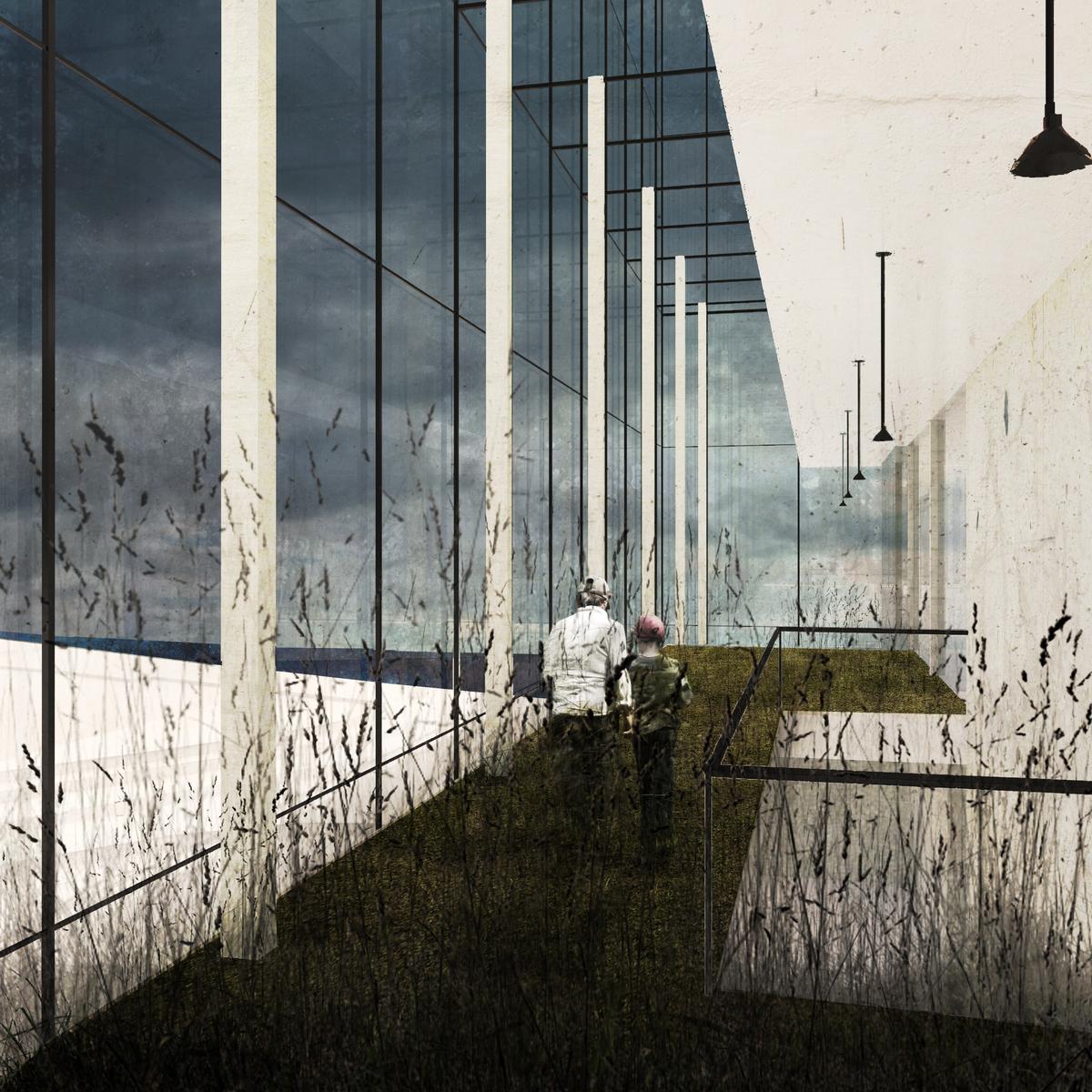 open garden corridor.