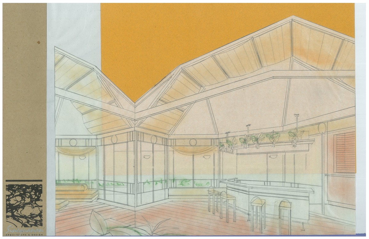 Club House | Interior Hand-Sketch