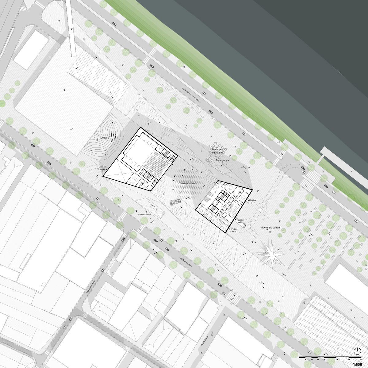 Site plan, 1/500 (Image: Team BIG)