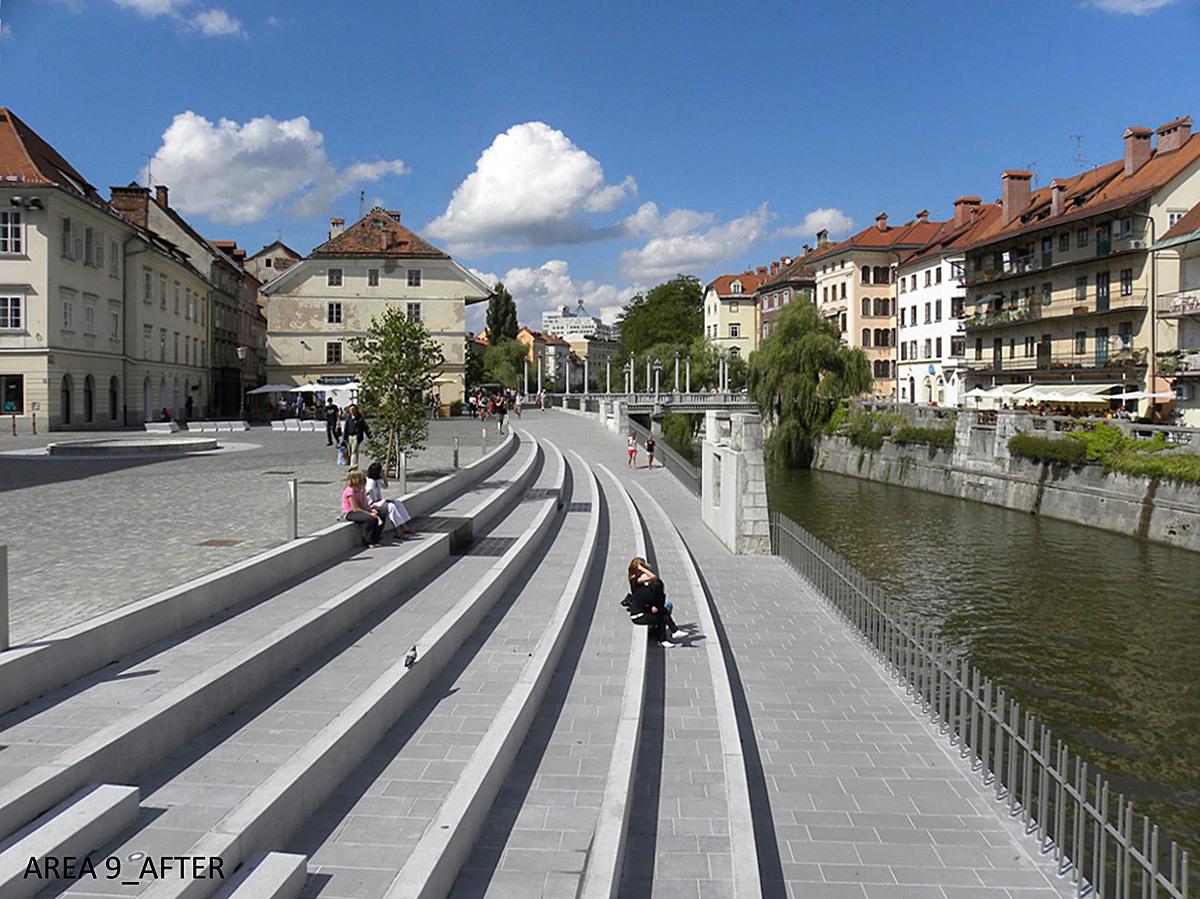 JOINT WINNER: RENOVATION OF THE RIVER LJUBLJANICA, Ljubljana (Slovenia), 2011 (Photo: AteljeVOZLIC)