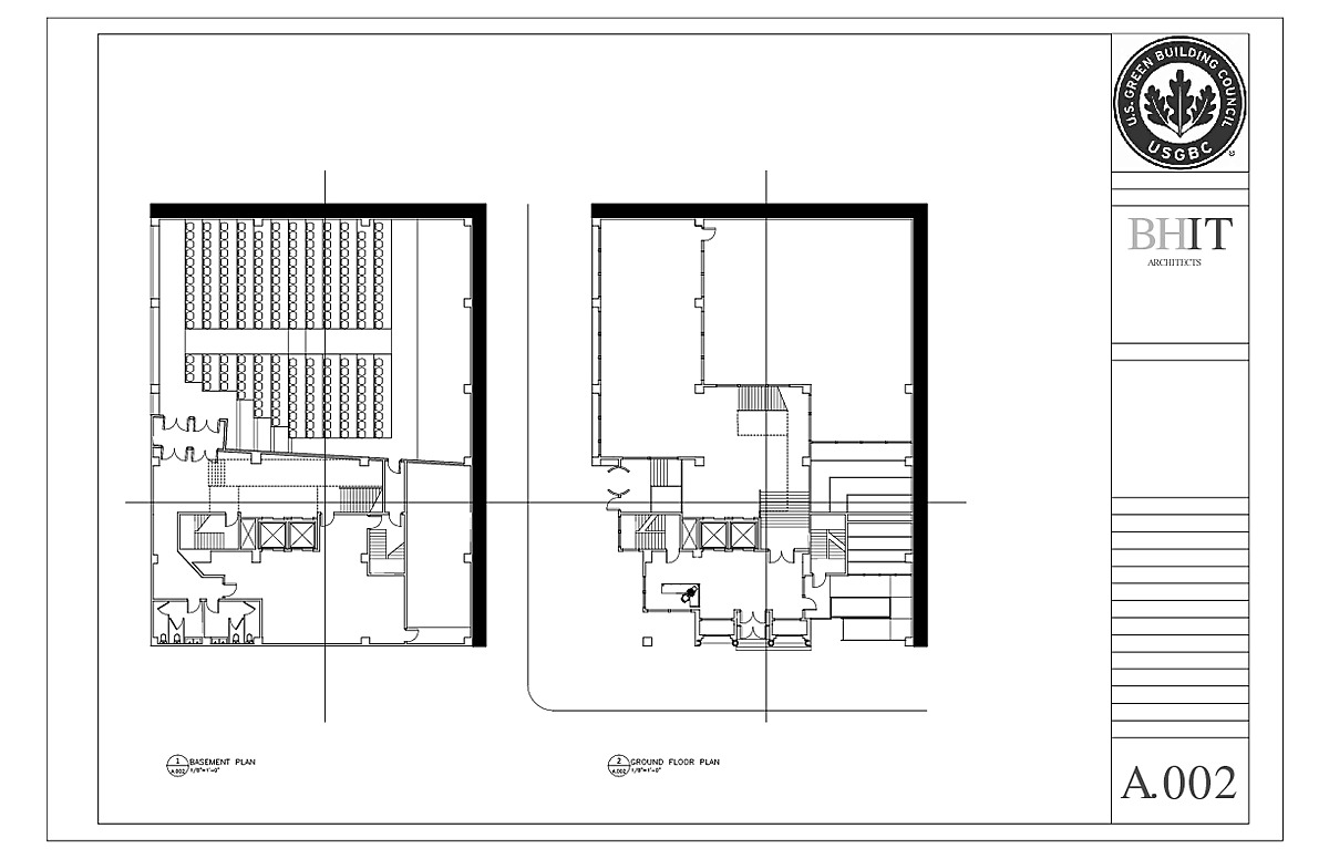 Basement and Ground Floor Plans