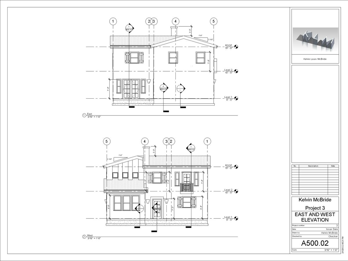 A500-02 - East and West Elevation