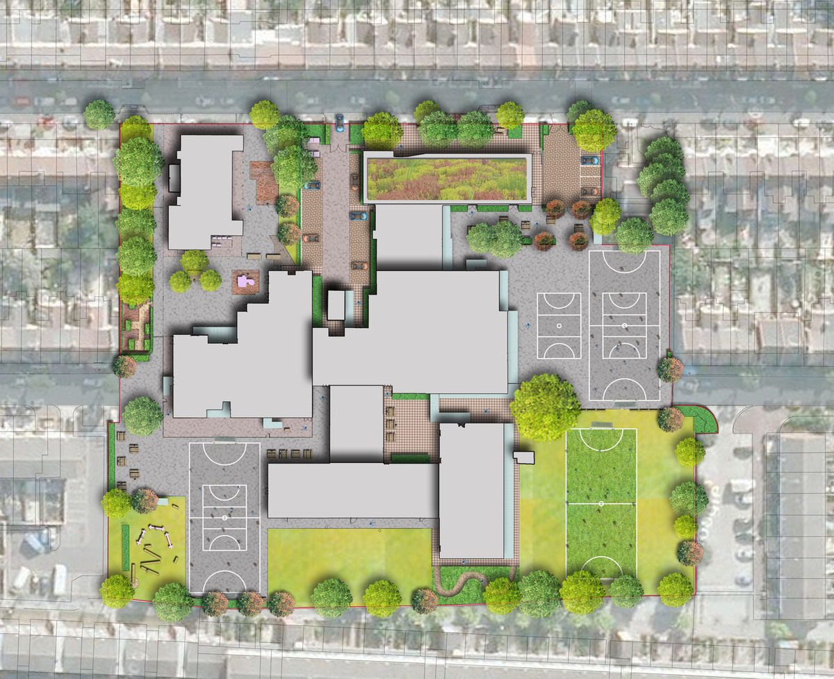 Avenue primary school davis landscape architecture for School project plan