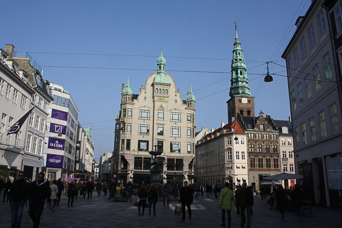 Strøget, Copenhagen's main pedestrian street