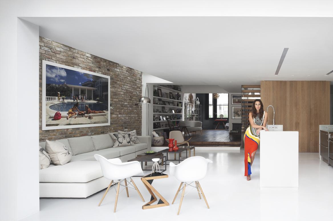 Chloe Macintosh, Co-Founder of Made.com, at her home, designed by Bureau de Change, London, UK, 2013