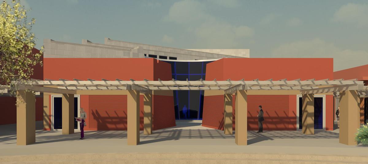 Mullionless Curtain Wall System : Huhugam heritage center chandler arizona aesthetic