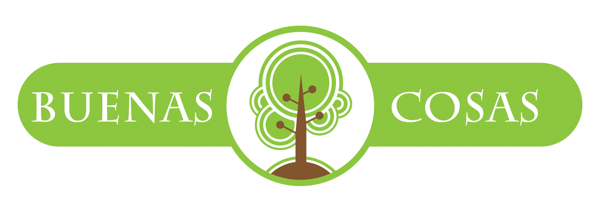Logo design for Buenos Cosas, a not for profit association of family, friends and neighbors who serve their community and nature in Guatemala.